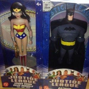 """DC Justice League 10"""" figure Wonder Woman & Batman"""